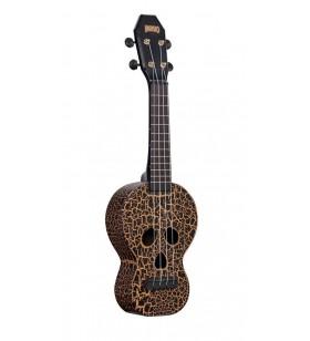 Skull sopraan ukulele zwart