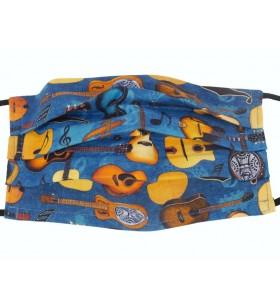 Face Mask gitaren blauw 32