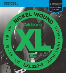 EXL220-5 set 5 snarige bas...
