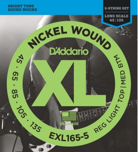 EXL165-5 set bassnaren  45-135